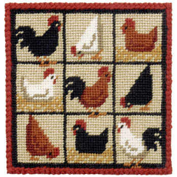 Small Tapestry Kit - Hens