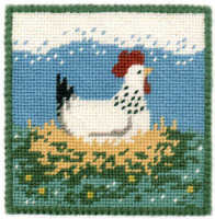 Small Tapestry Kit - Broody Hen