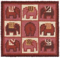 Pink Elephants Small Tapestry Kit