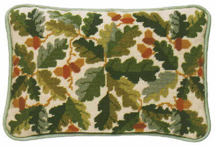 Acorns Lumbar Tapestry Kit - Ecru