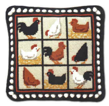 Black Hens Tapestry Kit