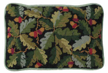 Black Acorns Lumbar Tapestry Kit