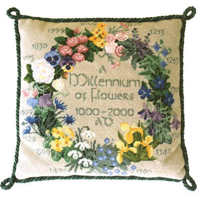 Tapestry Flowers Sampler - Ecru