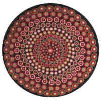 Black Millefiori Round Tapestry