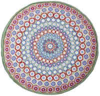 Green Millefiori Round Tapestry (Plain Canvas)