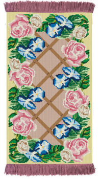 Rose Lattice - Rug/Wall Hanging Kit