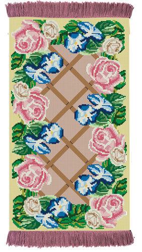 Rose Lattice - Rug/Wall Hanging Kit