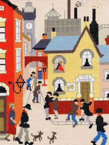 The Cheese - Cross Stitch (L.S. Lowry)