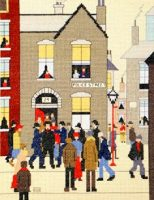 The Arrest - Cross Stitch (L.S. Lowry)