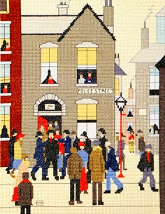 The Arrest - Cross Stitch (L.S. Lowry)