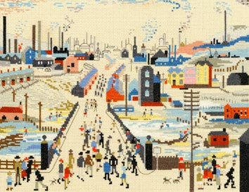 The Canal Bridge - Cross Stitch (L.S. Lowry)