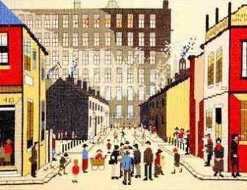 Street Scene Cross Stitch (L.S. Lowry)