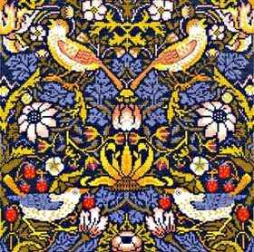 Strawberry Thief  (William Morris)  Cross Stitch