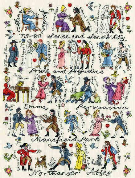 Jane Austen Sampler -  Bothy Threads