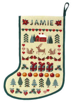 Tapestry Sampler - Christmas Stocking (Plain Canvas)