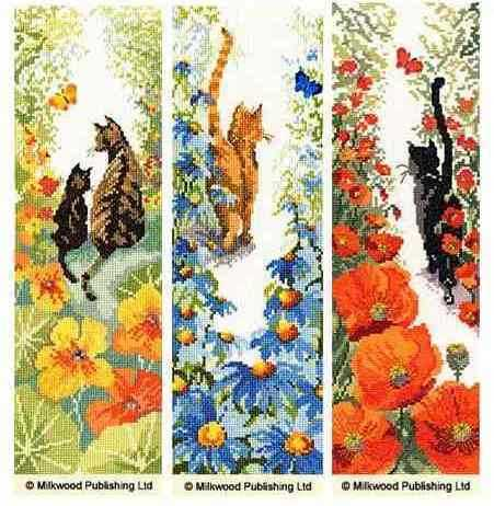 Cats by  Bothy Threads ( Follow me) Set of 3