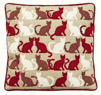 Multi Cats Tapestry Kit (Plain Canvas)