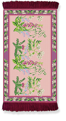 Wild Flowers - Rug/Wall Hanging Kit - Brigantia