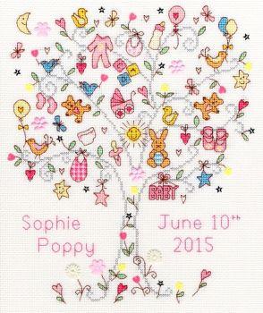 Love Baby Girl Sampler - Bothy Threads