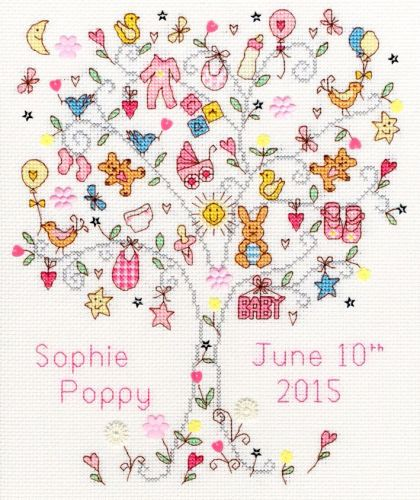Love Baby Girl Sampler - Bothy Threads