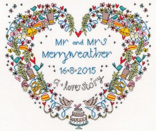 Wedding Heart Wedding Sampler - Bothy Threads