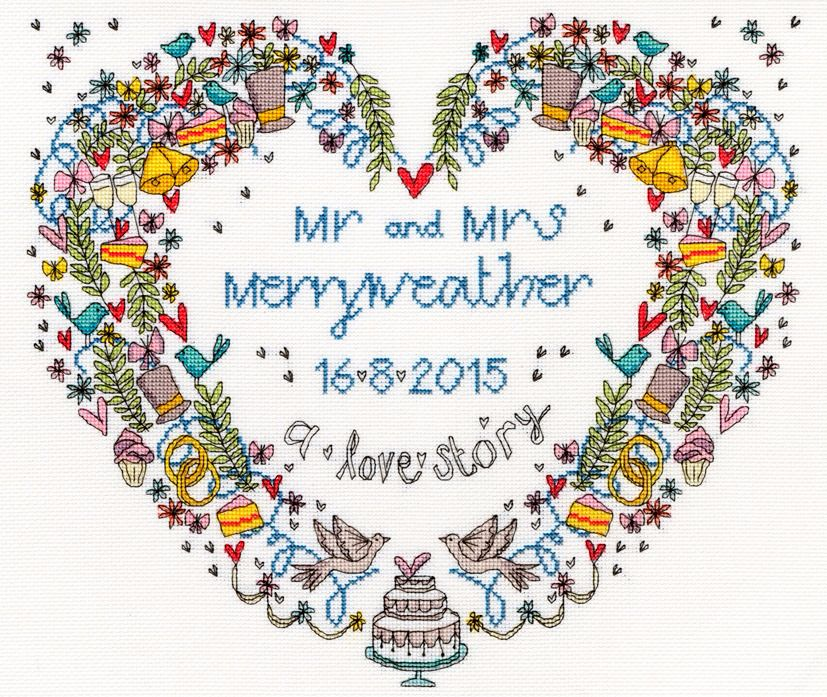 Wedding Heart Wedding Sampler  Bothy Threads
