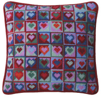 Mosaic Hearts Tapestry Kit