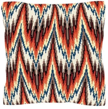 Bargello Style Red Tapestry - Brigantia