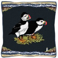 Seaside Puffins - Bird Tapestry Kit
