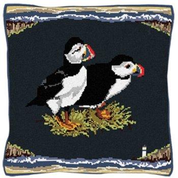 Seaside Puffins - Bird Tapestry Kit