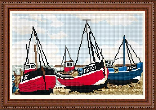 Fishing Boats (Hastings) Tapestry Kit - Brigantia