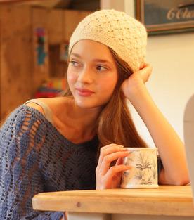 Alpaca crochet hat