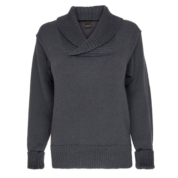 100% pure alpaca shawl collar jumper
