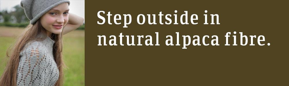 Step outside in natural alpaca fibre.