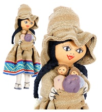 Hand woven traditional dolls