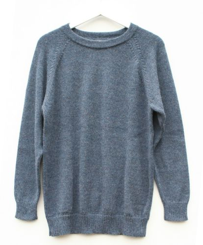 Crew neck pure alpaca jumper