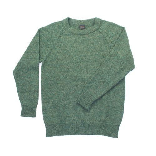 Crew neck pure alpaca jumper, sizes S to XL