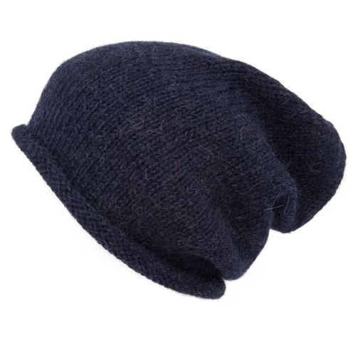 Alpaca slouch hat for men