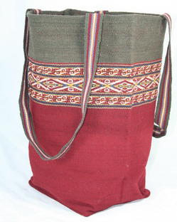 Hand woven bag made with natural dyes