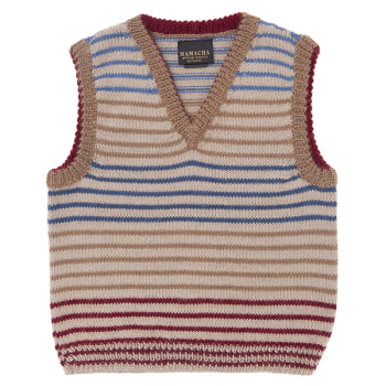 Baby alpaca striped tank top