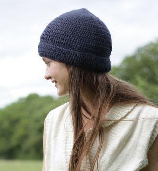 Alpaca turn up hat