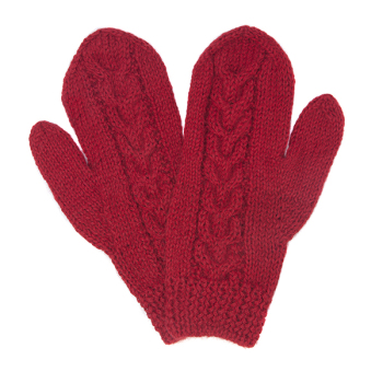 Alpaca 'vintage' mittens