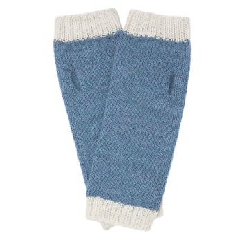 Alpaca fingerless mittens